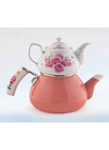 Schafer Stelle Porselen Çaydanlık Pembe